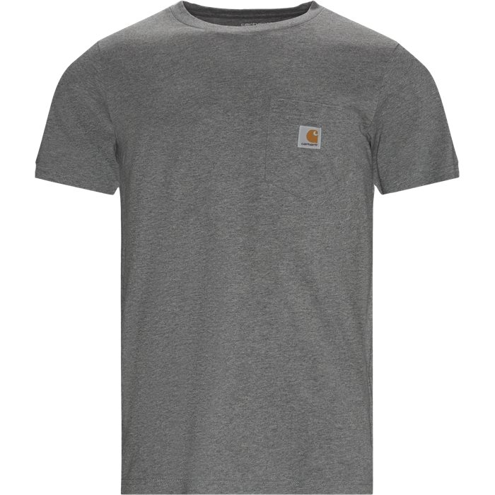 Pocket Tee - T-shirts - Regular - Grå